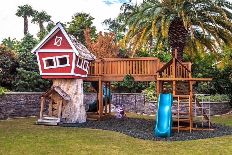 Spielplatz Fur Kinder Im Garten Anrichten Ideen Und Tipps