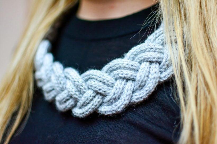 Halskette stricken Strickliesel