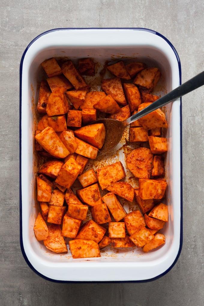 schnelle Sommer Rezepte Süßkartoffel rösten