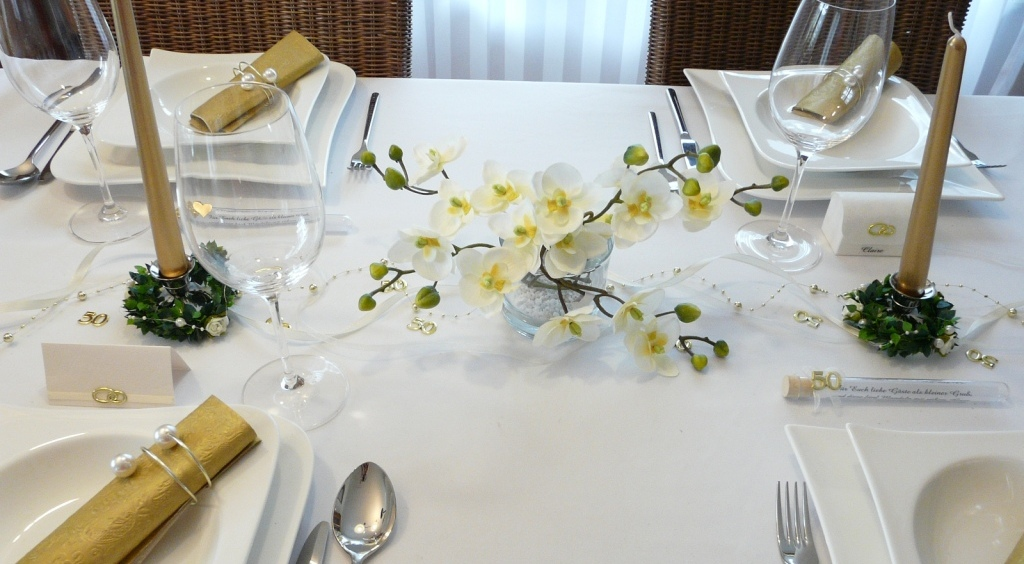 Tischdeko Orchideen elegant