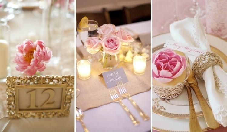 Tischdeko romantisch Rosen echt cool