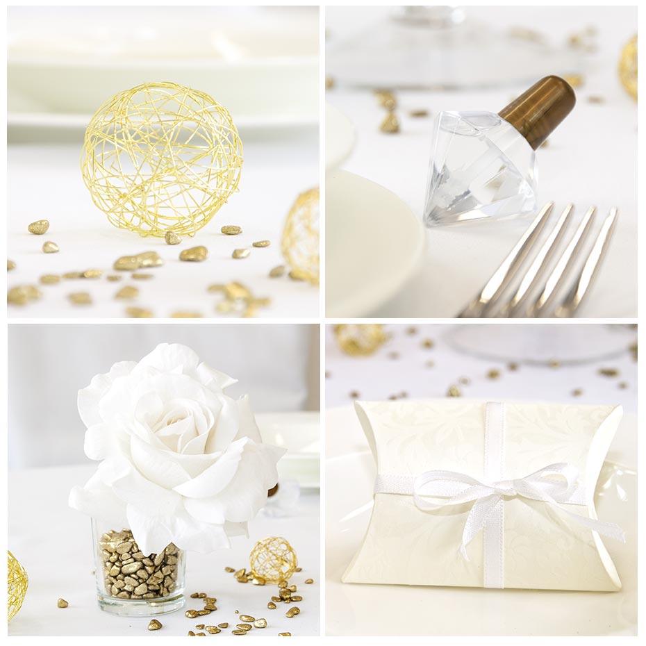 goldene Hochzeit Tischdeko originelle Ideen