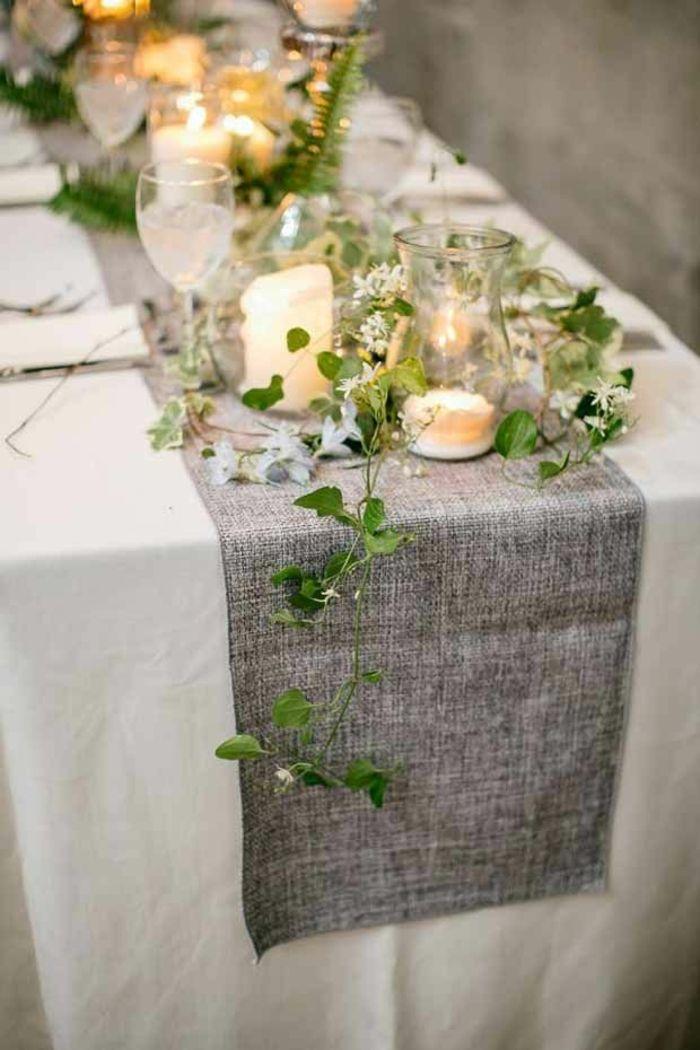 Tischdeko Tischläufer Teelicher stilvoll