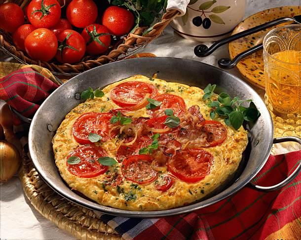 Tomaten-Omelett leichtes Rezept
