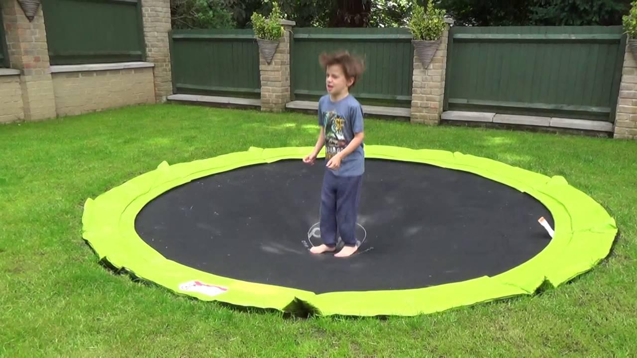 Bodentrampolin auswählen rund oder rechteckig