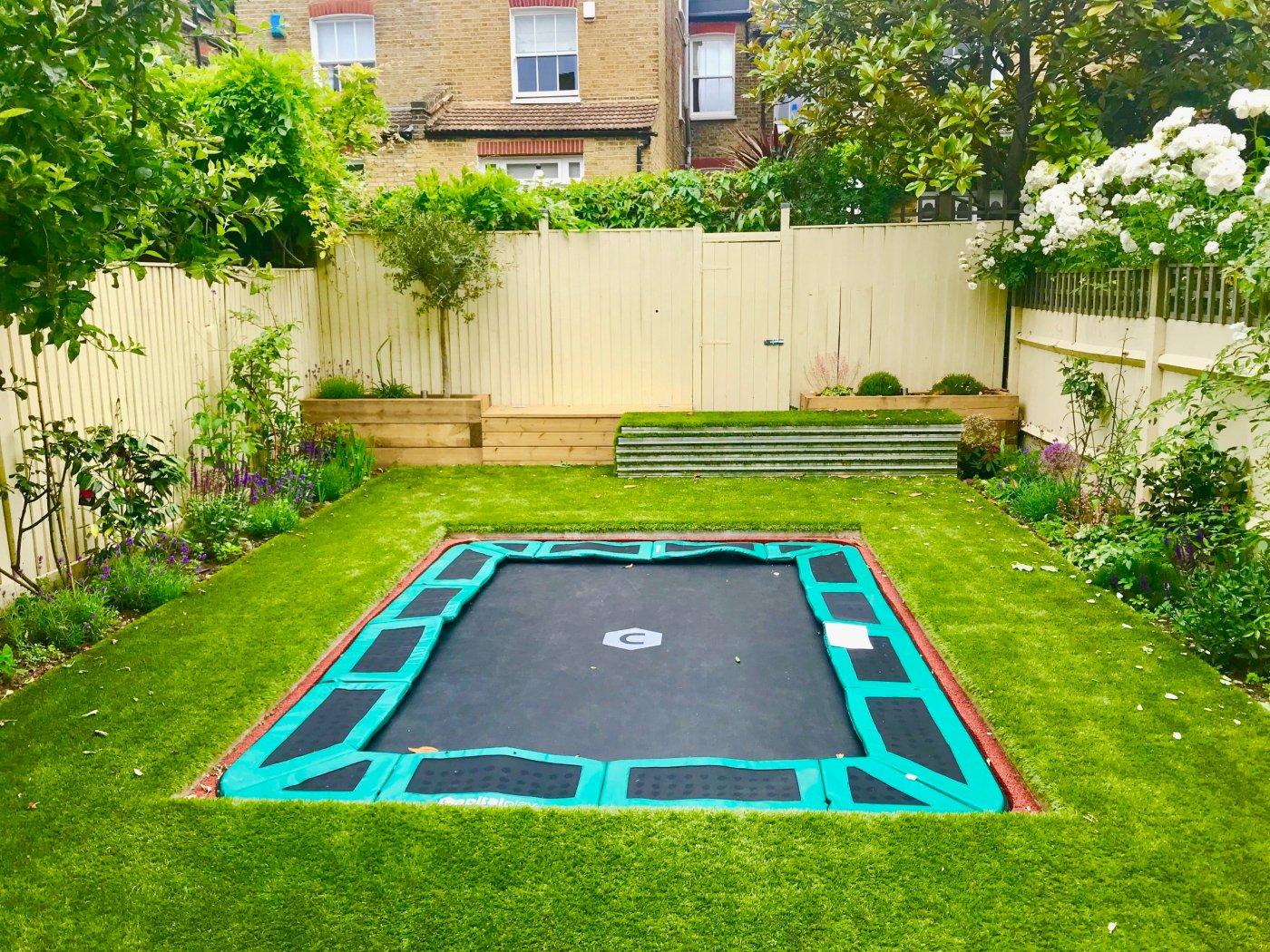 Bodentrampolin im Garten Vorteile