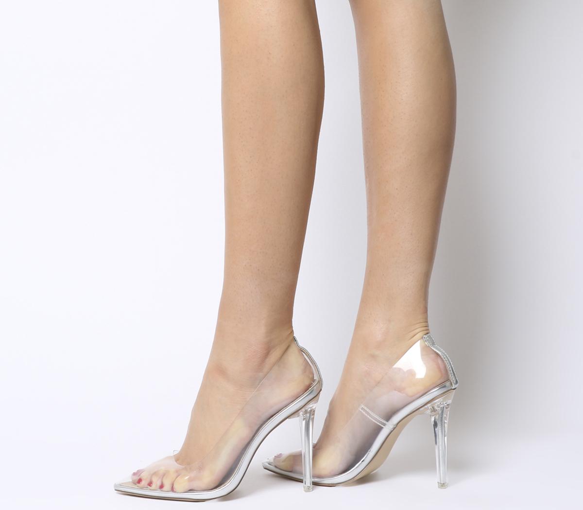 transparente Absatzschuhe tragen Modetipps