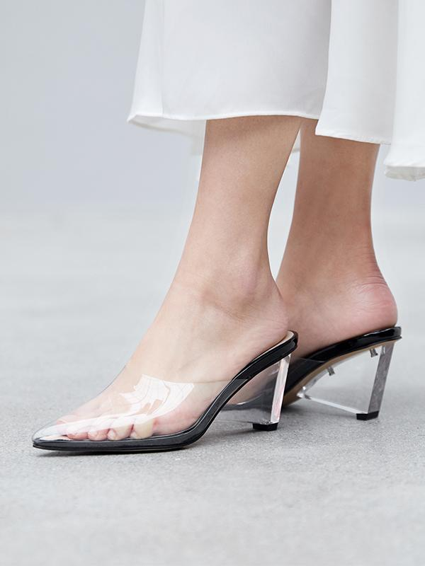 transparente Absatzschuhe super eleganter Look