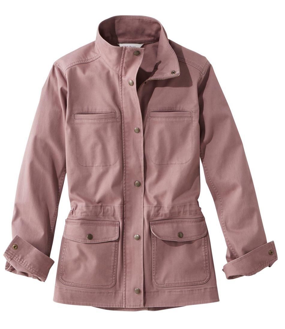 Sommermode 2019 Damen Utility Jacke dunkelrosa große Taschen