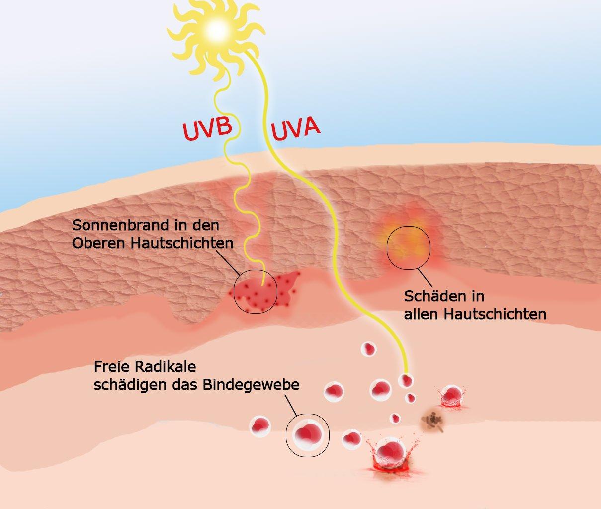 Sonnenschutz Sommer schädliche UV-Strahlen