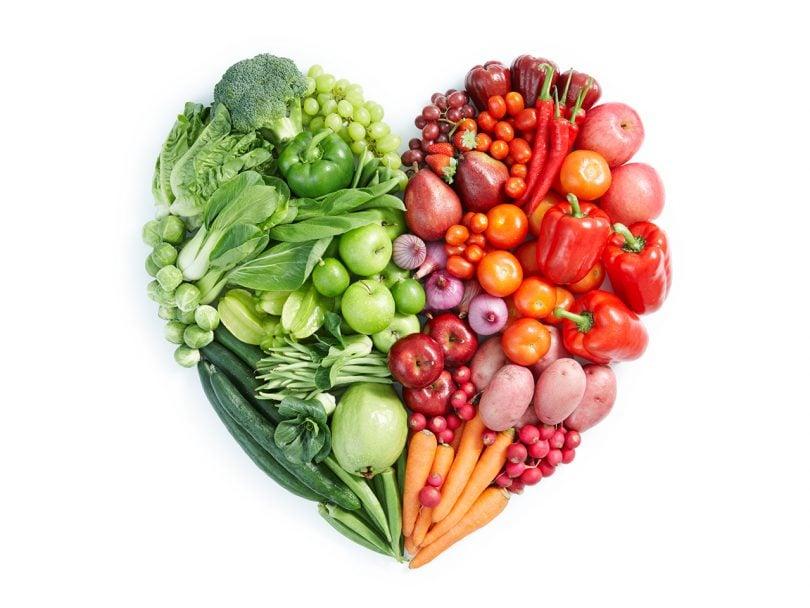 Abnehmen am Bauch viel Obst und Gemüse essen