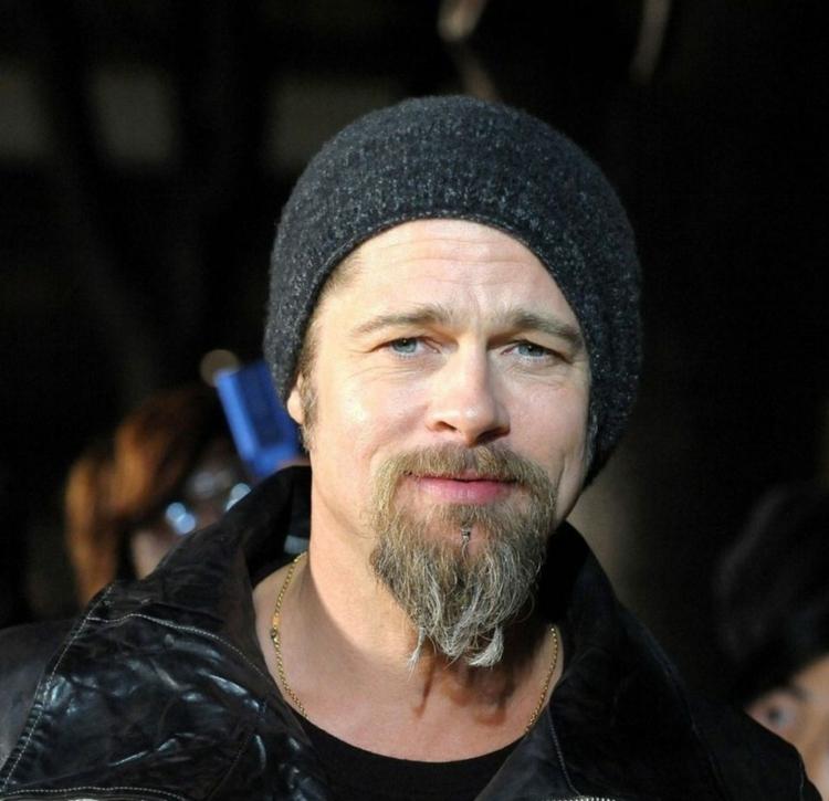 Kinnbart Schnurrbart Brad Pitt
