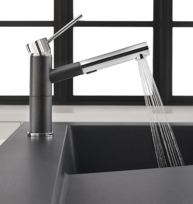 Spülbecken modern Wasserhahn Edelstahl