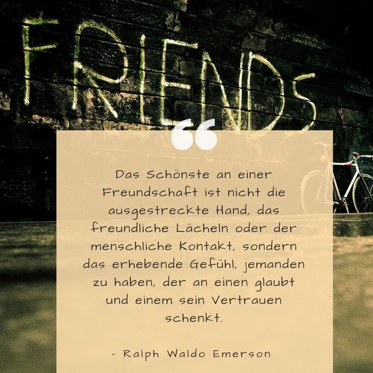 Zitate über Freundschaft tiefsinnig Emerson