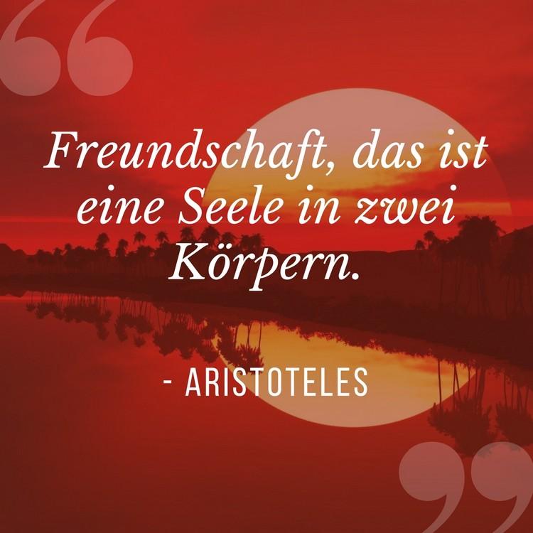 Zitate über Freundschaft Aristoteles FReundschaft eine Seele zwei Körper