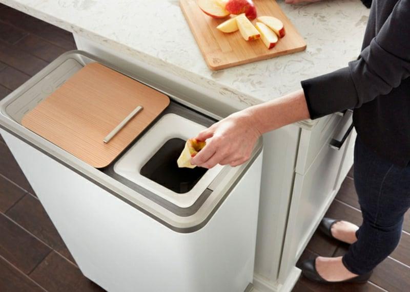 Mülleimer Küche Abfälle recyceln