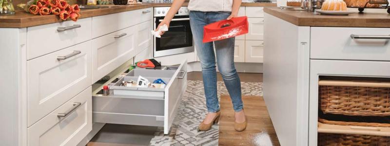 Mülleimer Küche eingebaut funktional