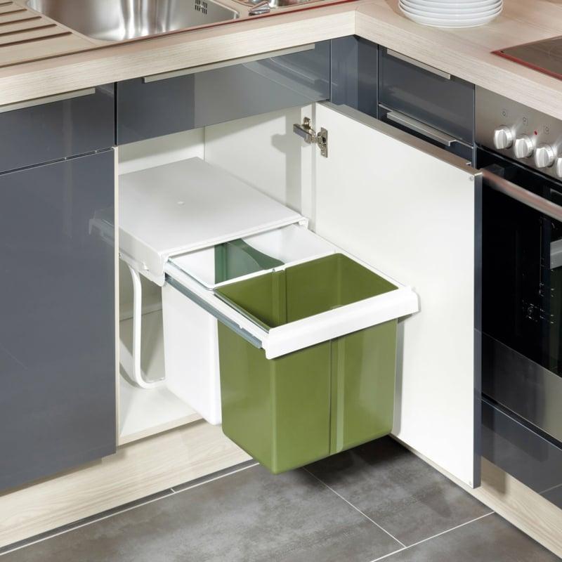 Abfalleimer modern eingebaut Küche