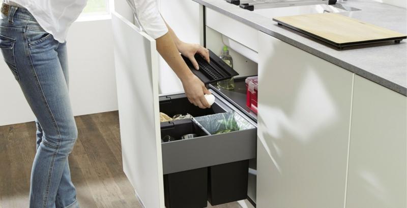 Mülleimer Küche eingebaut wirklich praktisch