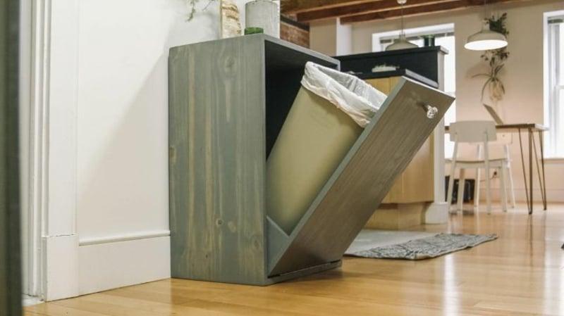 Mülleimer Küche verstecken schlaue Ideen
