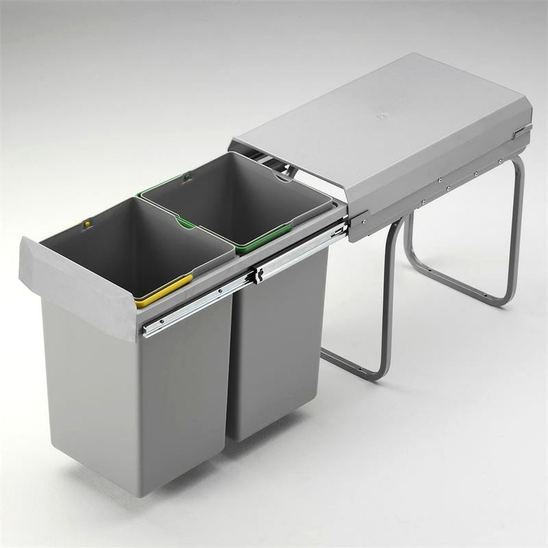 Mülleimer Küche eingebaut Metallcontainer