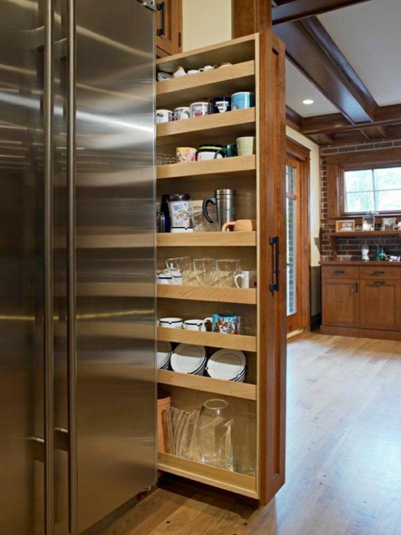 Apothekerschrank Küche eingebaut wirklich praktisch