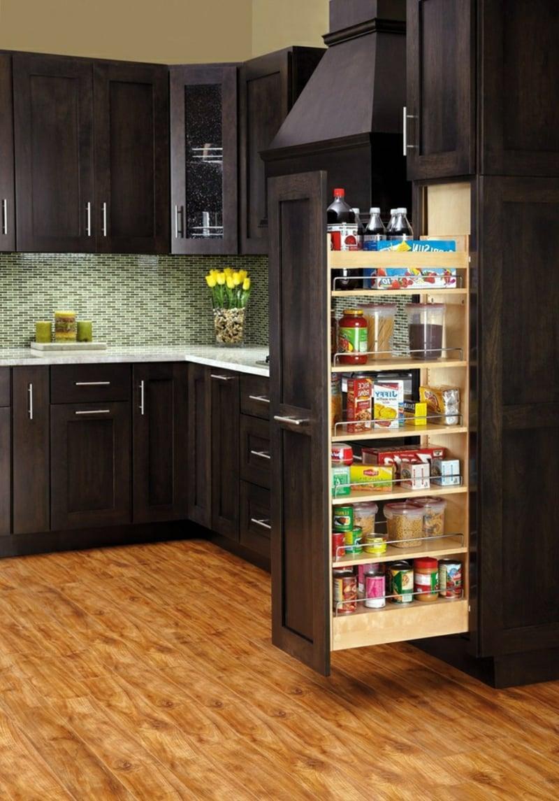 Apothekerschrank Küche Küchenutensilien und Lebensmittel verstauen
