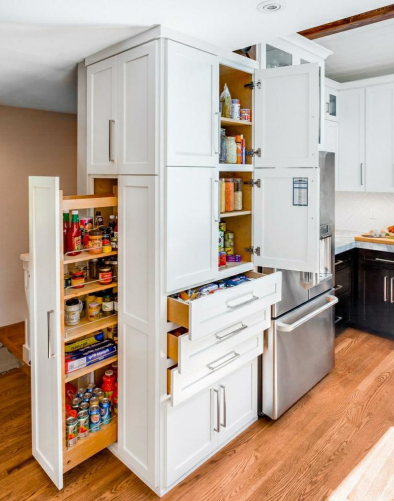 Platz sparen Küche Apothekerschrank seitlich