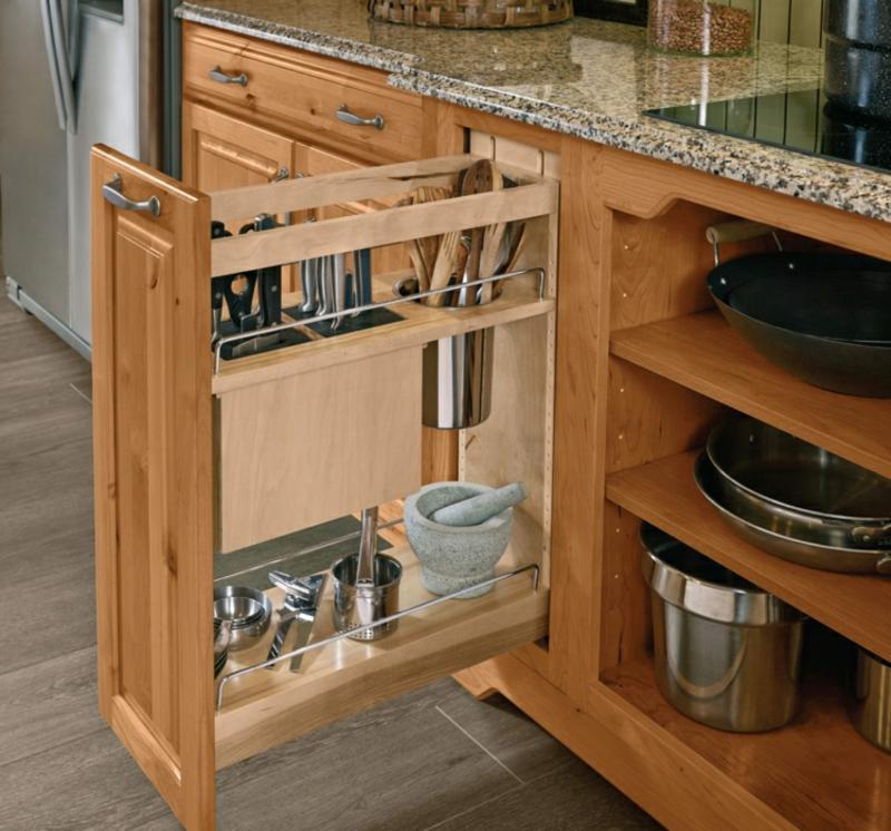 Unterschrank ausziehbar Küche Utensilien verstauen