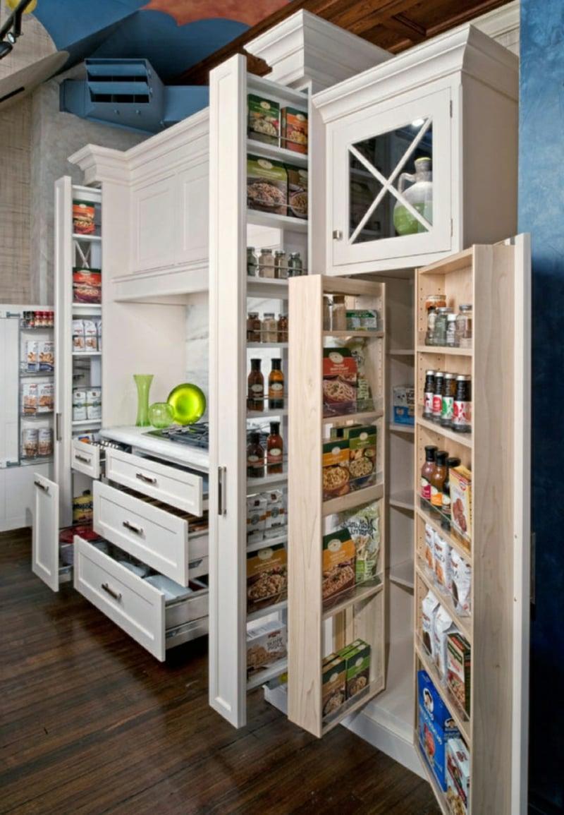Apothekerschrank Küche einrichten praktisch