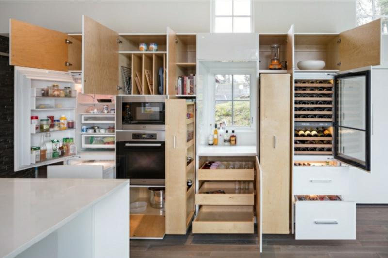 Apothekerschrank platzsparend kompakt Küche