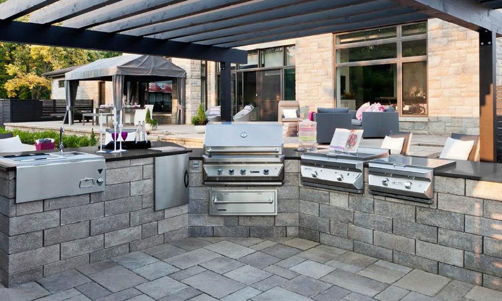 Außenküche bauen auf der Terrasse