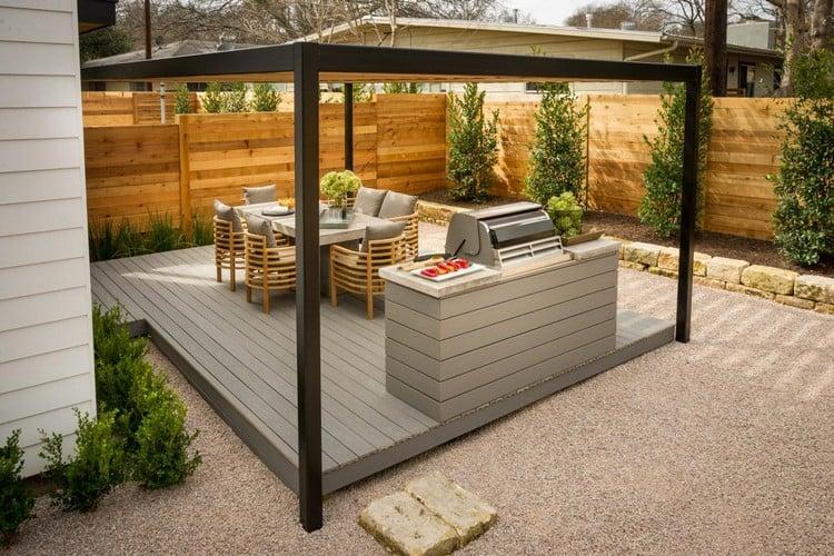 Outdoor Küche Pergola im Garten