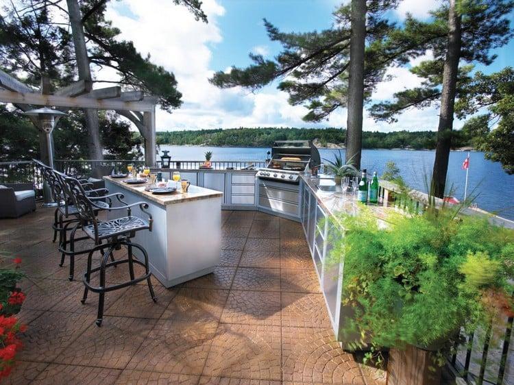 Küche Außenbereich herrliche Aussicht