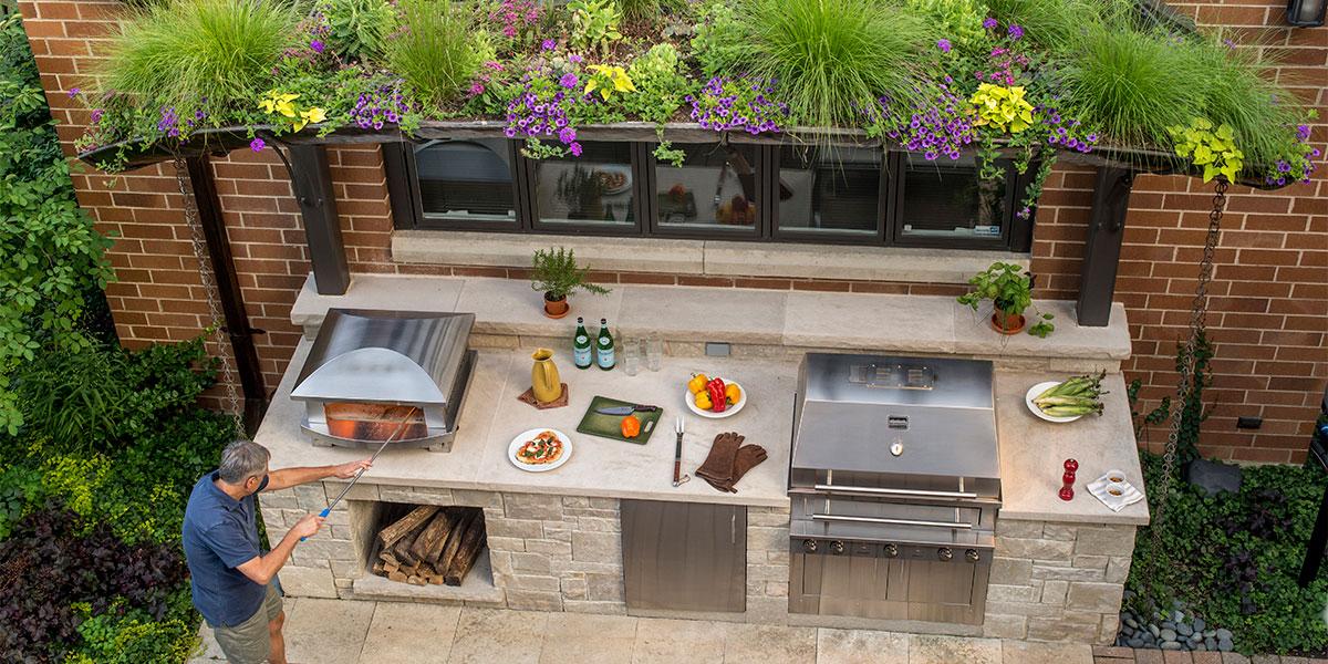 Außenküche moderne Gestaltung funktional praktisch