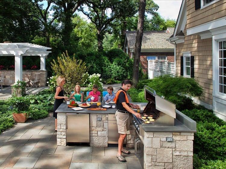 Außenküche einrichten Beispiele hilfreiche Tipps