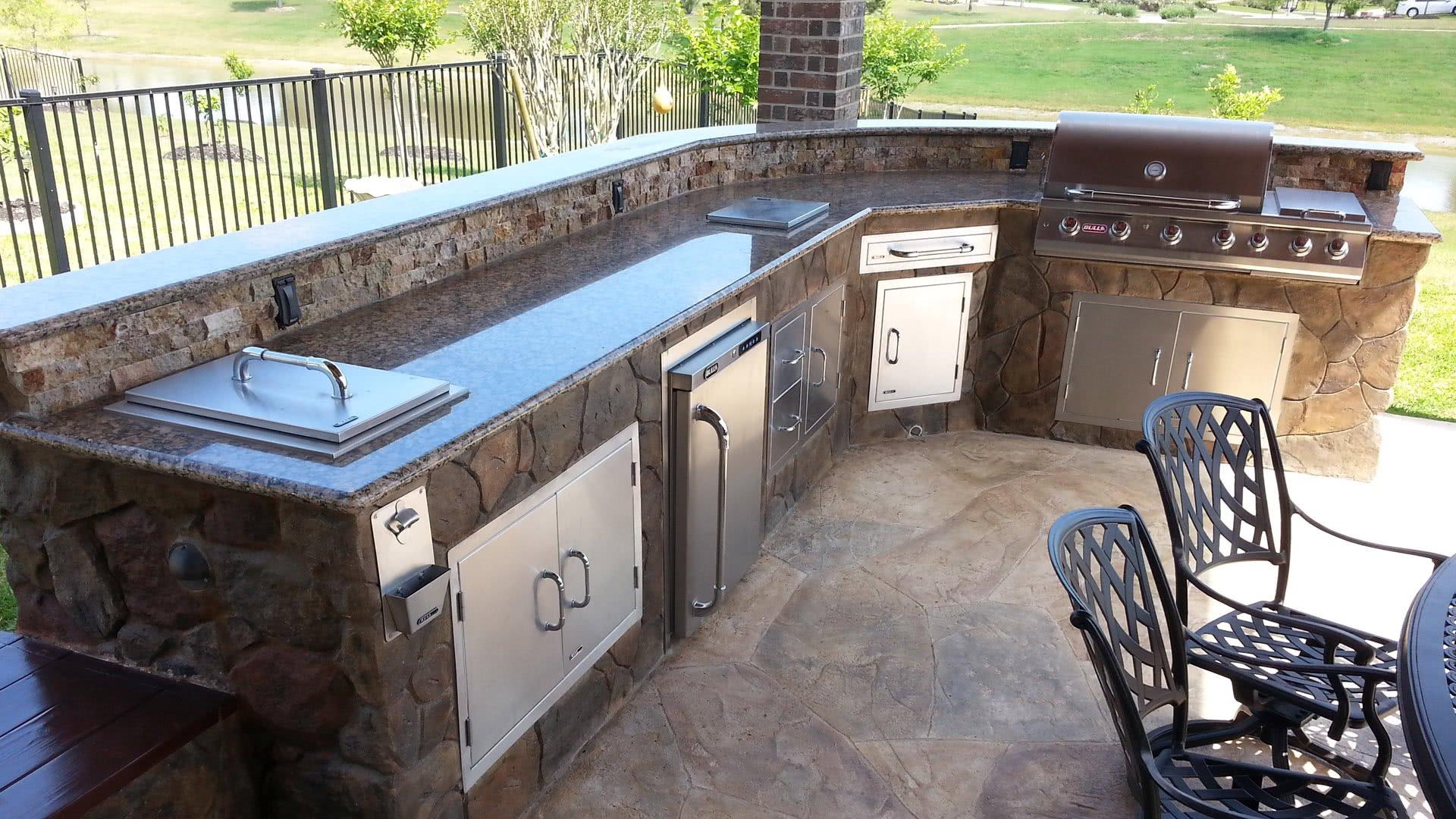 Outdoor Küche Geräte Edelstahl Arbeitsplatten Quartz