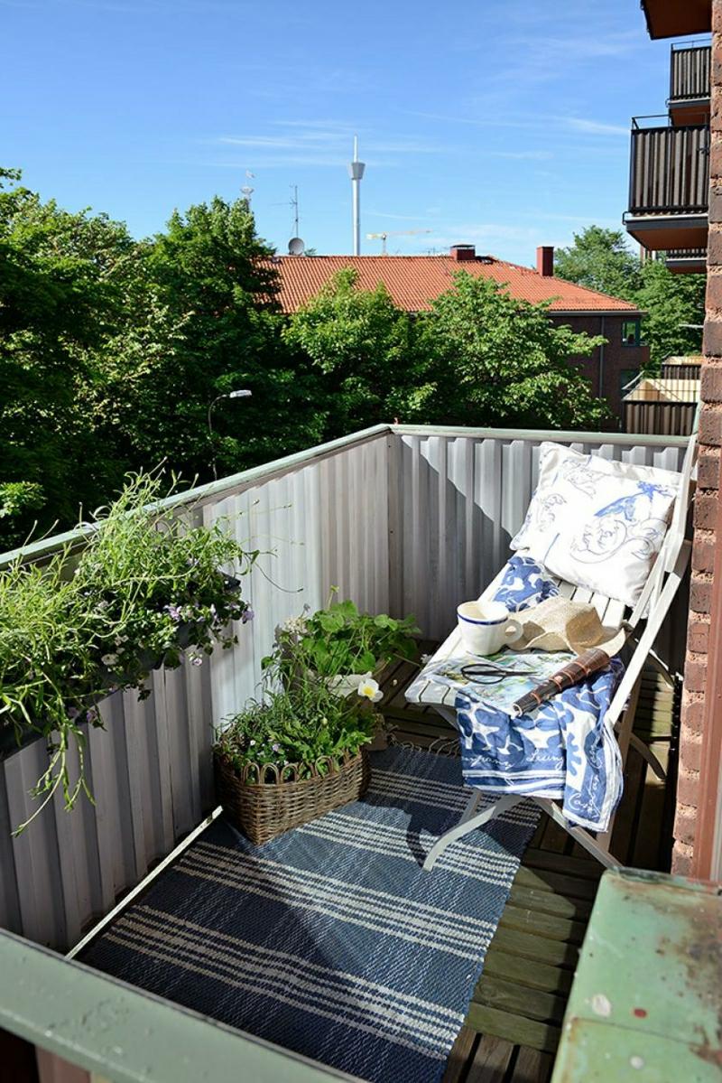 Balkonverkleidung Stahl Profilen robust Sichtschutz