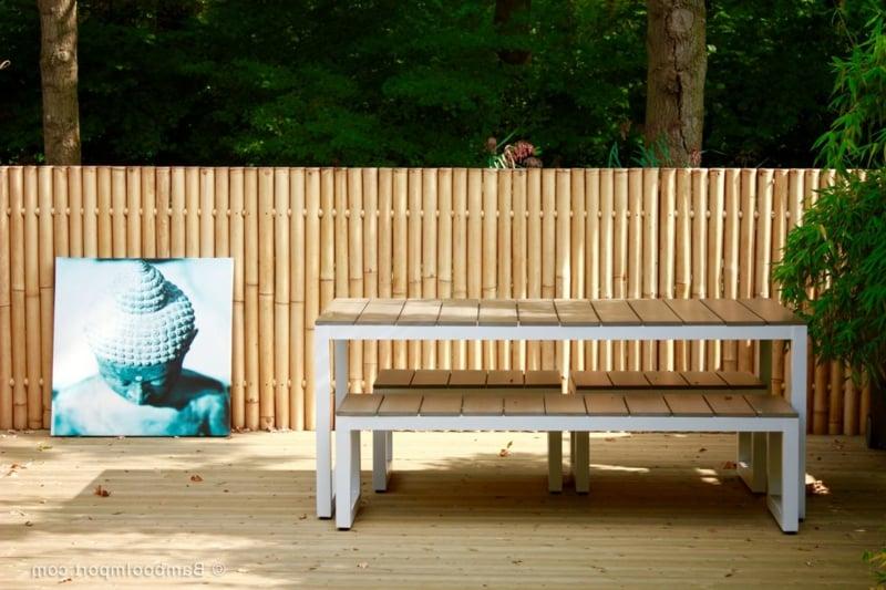 Verkleidung Balkon Bambus Sommer