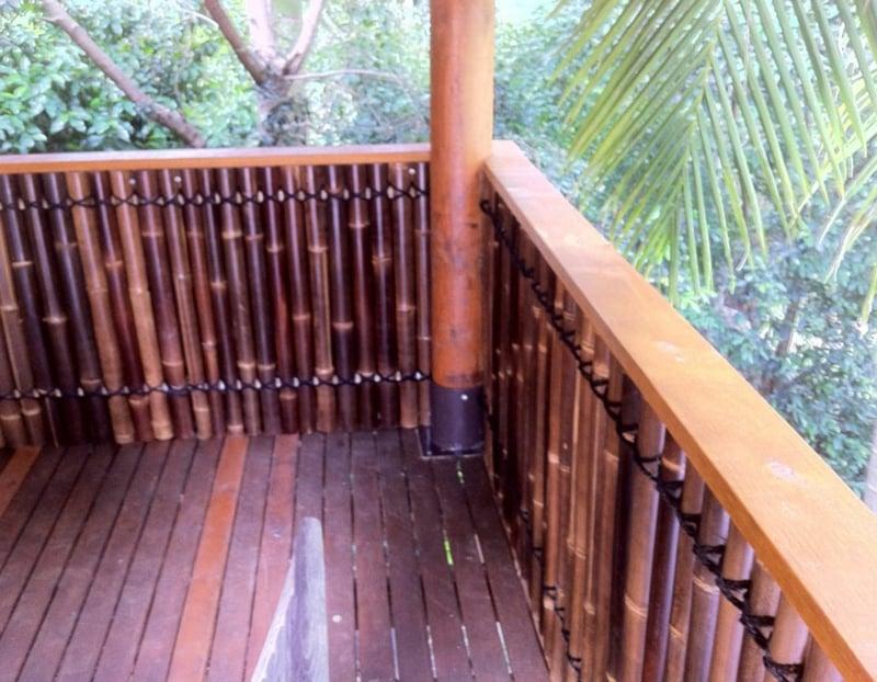 Balkon verkleiden Bambus Optik toll