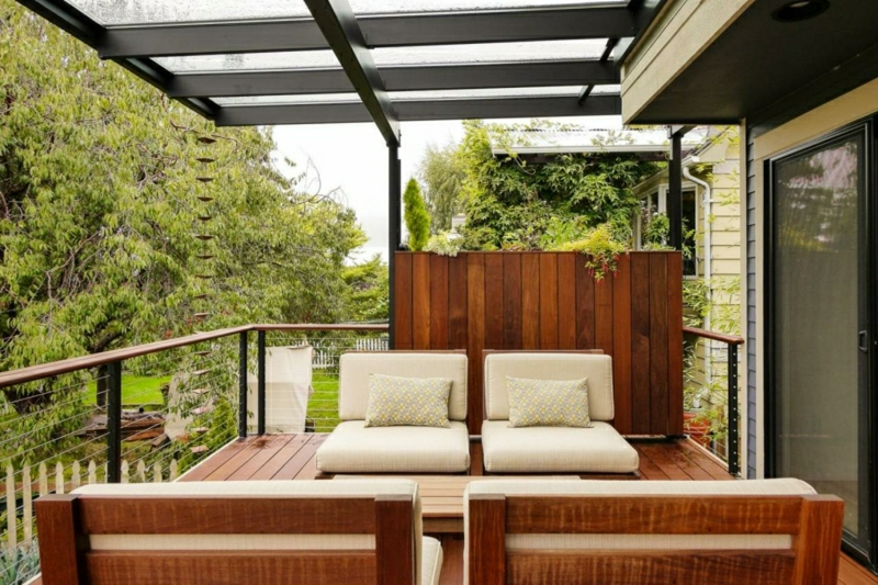 Balkonverkleidung Draht dekorativ