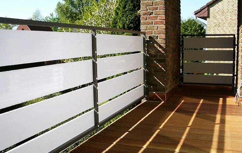 Balkonverkleidung Profilen Kunststoff robust