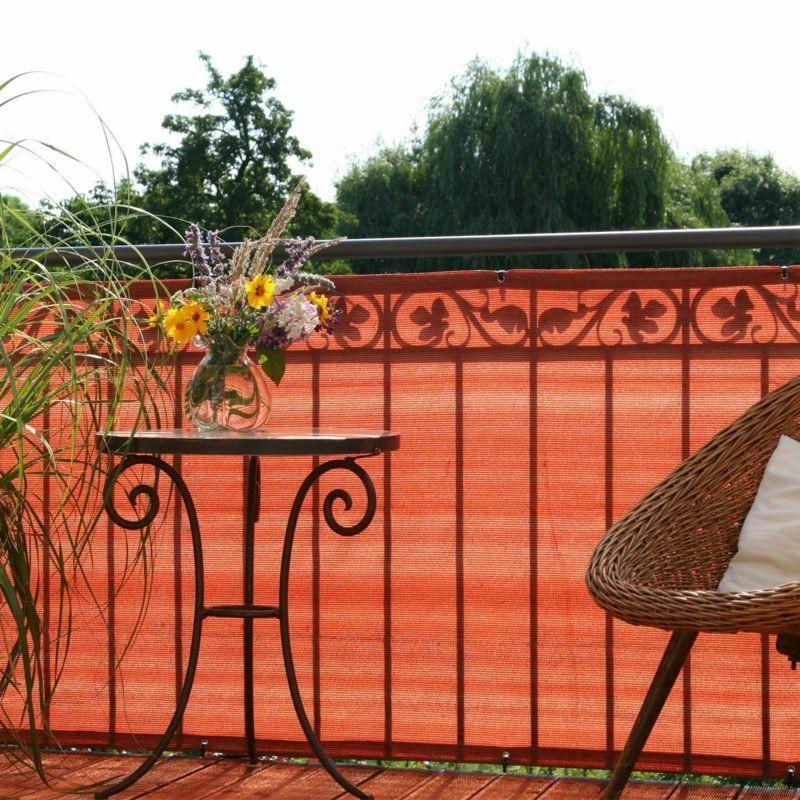 Balkonverkleidung stoff Sichtschutz herrlicher Look