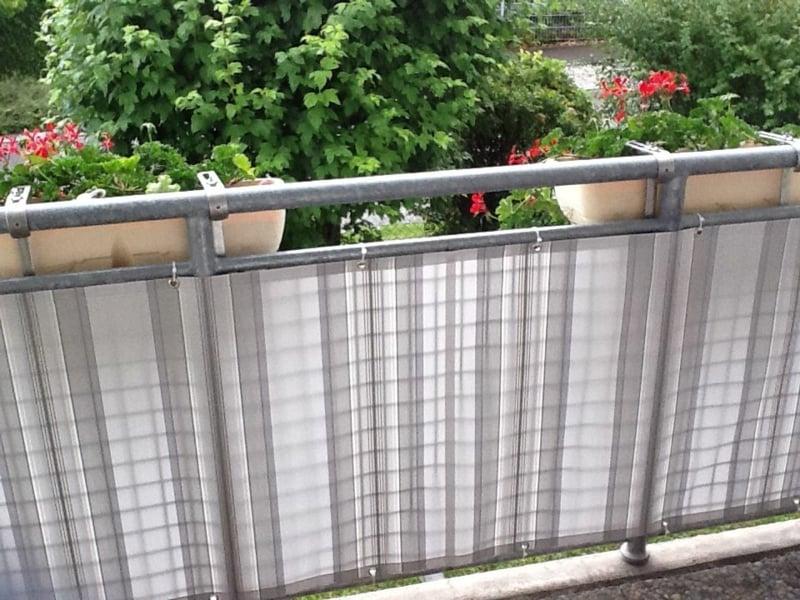 Stoffverkleidung Balkon Sichtschutz Sommer