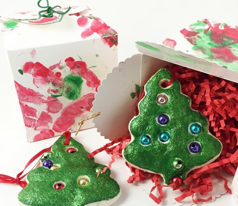 Basteln mit Kindern Weihnachtsbaumschmuck