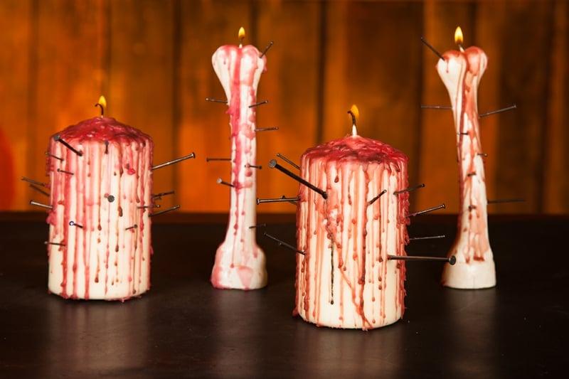 DIY blutige Kerzen Bastelanleitung