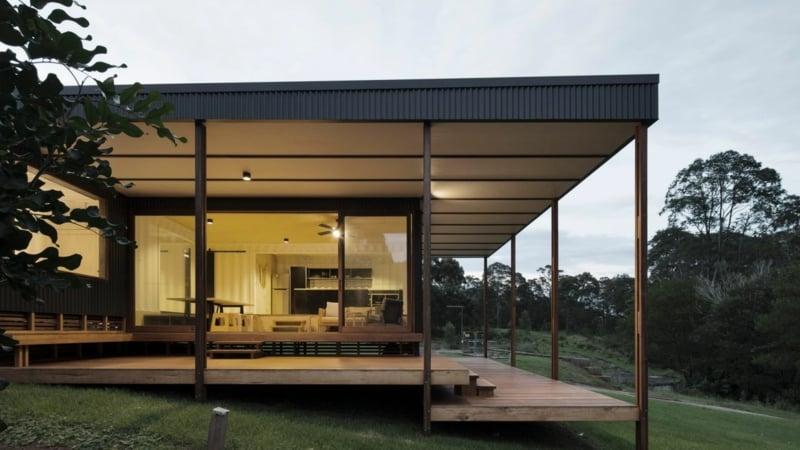 Container Haus mit Veranda herrlicher Look