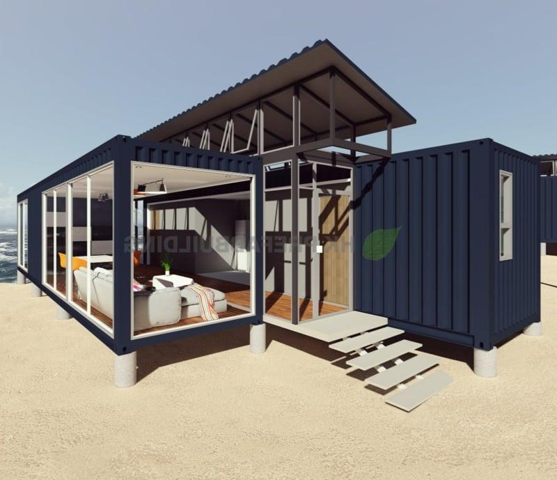 Container Haus Bauschema modern