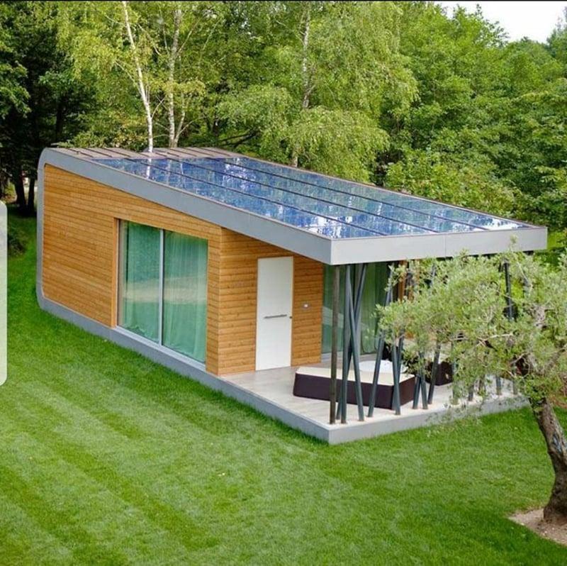 Container Haus Designer Fassade Holz herrlicher Look