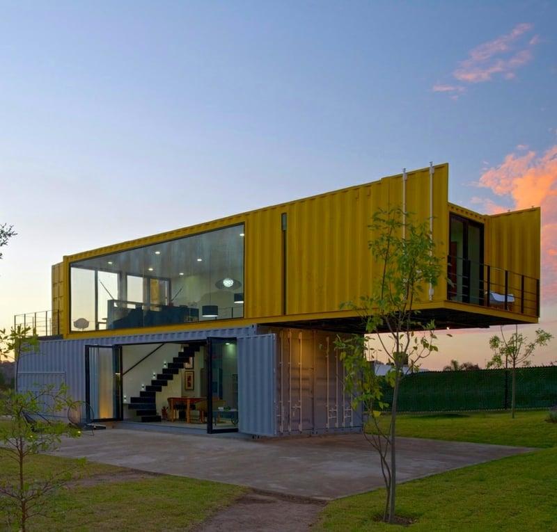 Designer Container Haus zwei Stockwerke